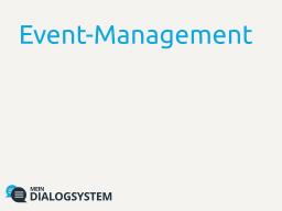 Digitales Event-Management